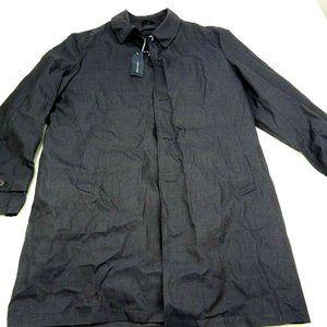 Tommy Hilfiger Black Modern-Fit Raincoat Coat 44L